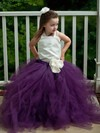 Amazing Square Neckline Tulle with Flower(s) Floor-length Princess Flower Girl Dresses #PDS01031906