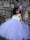 Stunning Empire Tulle Floor-length Flower(s) One Shoulder Flower Girl Dresses #PDS01031908
