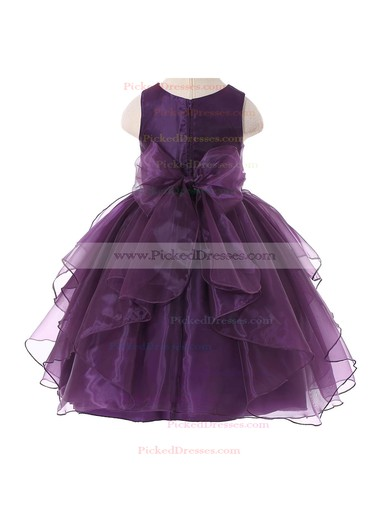 Ball Gown Scoop Neck Organza Sashes / Ribbons Floor-length Beautiful Flower Girl Dresses #PDS01031937
