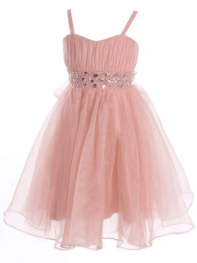 A-line Sweetheart Organza Sashes / Ribbons Ankle-length Best Flower Girl Dresses #PDS01031942