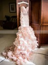 Trumpet/Mermaid Sweetheart Organza Cascading Ruffles Court Train Unique Wedding Dress #PDS00022566