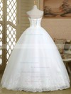 Ball Gown Sweetheart Tulle with Beading Floor-length Lace-up Original Wedding Dresses #PDS00022579