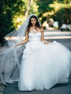 Princess Sweetheart Tulle Sashes / Ribbons Floor-length Newest Wedding Dresses #PDS00022602