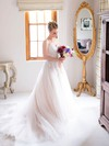 Elegant A-line Sweetheart Tulle with Appliques Lace Court Train Wedding Dresses #PDS00022722