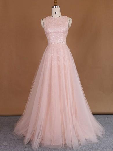 Wholesale Sheath/Column Scoop Neck Lace Tulle Sequins Detachable Wedding Dresses #PDS00022729