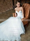 Sexy Trumpet/Mermaid Sweetheart Tulle with Lace Court Train Spaghetti Straps Wedding Dresses #PDS00022741