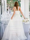 Beautiful A-line Sweetheart Chiffon with Ruffles Sweep Train Wedding Dresses #PDS00022752