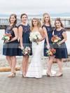 Simple Trumpet/Mermaid Sweetheart Satin with Ruffles Sweep Train Wedding Dresses #PDS00022774