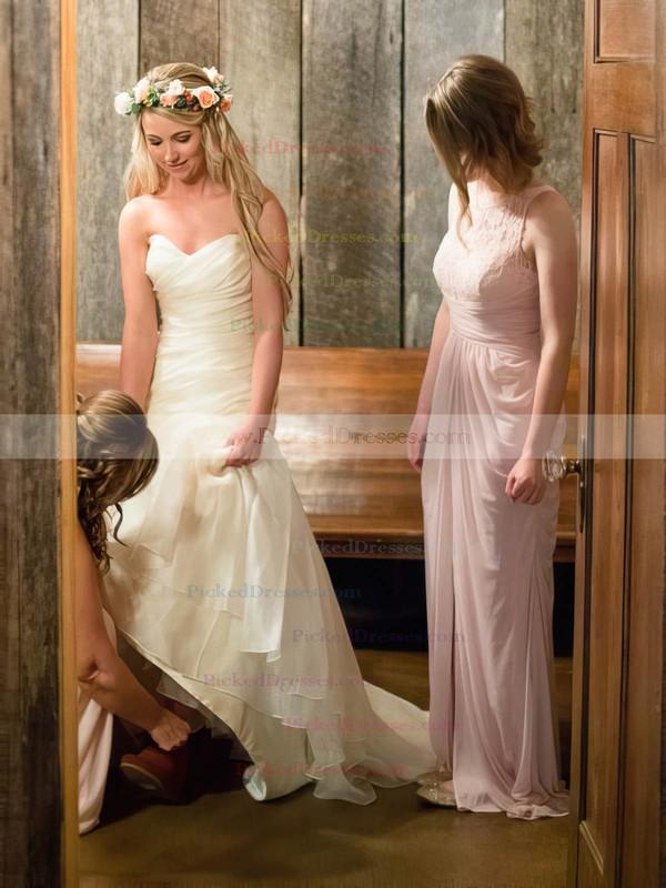 Promotion Trumpet/Mermaid Sweetheart Organza Ruffles Sweep Train Wedding Dresses #PDS00022792
