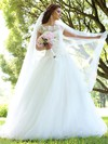 Ball Gown Scalloped Neck Tulle Appliques Lace Floor-length New Style Wedding Dresses #PDS00022830