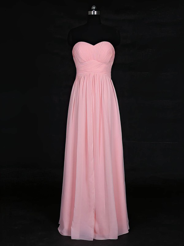 Empire Sweetheart Floor-length Chiffon with Ruffles Bridesmaid Dresses #PDS01013121