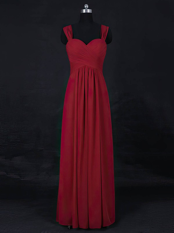 Empire Sweetheart Floor-length Chiffon with Ruffles Bridesmaid Dresses #PDS01013122