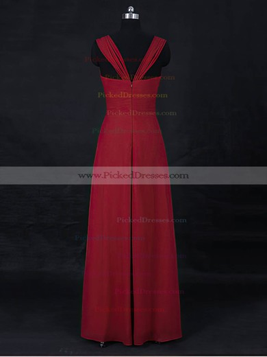 Empire Sweetheart Floor-length Chiffon with Ruffles Bridesmaid Dresses #PDS01013122