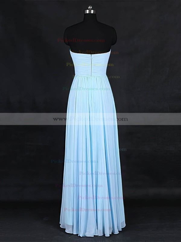 A-line Sweetheart Floor-length Chiffon with Criss Cross Bridesmaid Dresses #PDS01013126