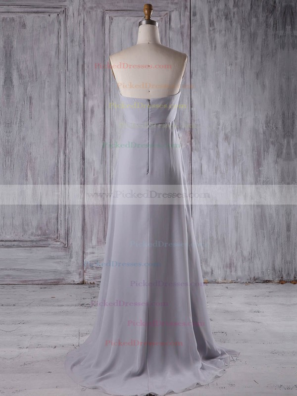 Empire Sweetheart Sweep Train Chiffon with Beading Bridesmaid Dresses #PDS01013210