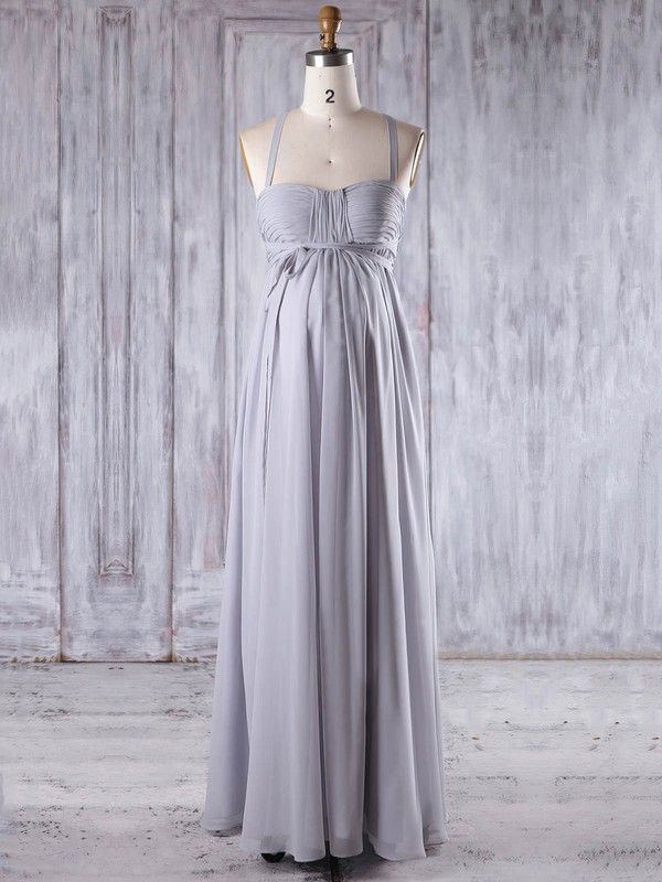 Empire Sweetheart Floor-length Chiffon with Ruffles Bridesmaid Dresses #PDS01013258