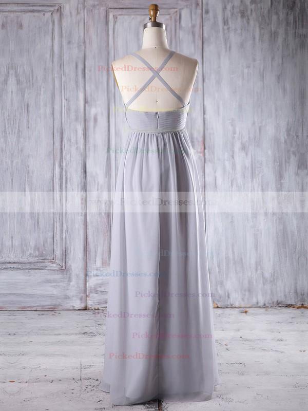 Empire Sweetheart Floor-length Chiffon with Ruffles Bridesmaid Dresses #PDS01013258