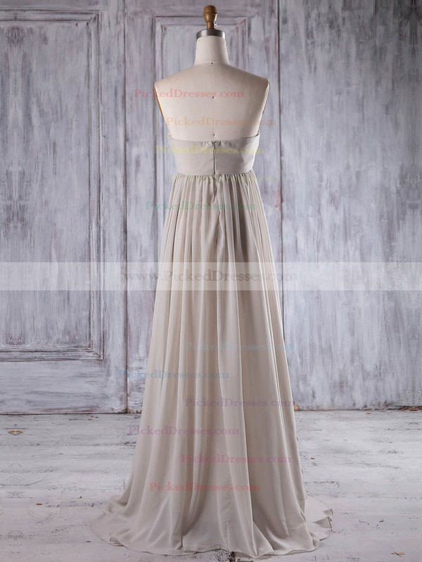 Empire Sweetheart Floor-length Chiffon with Flower(s) Bridesmaid Dresses #PDS01013261