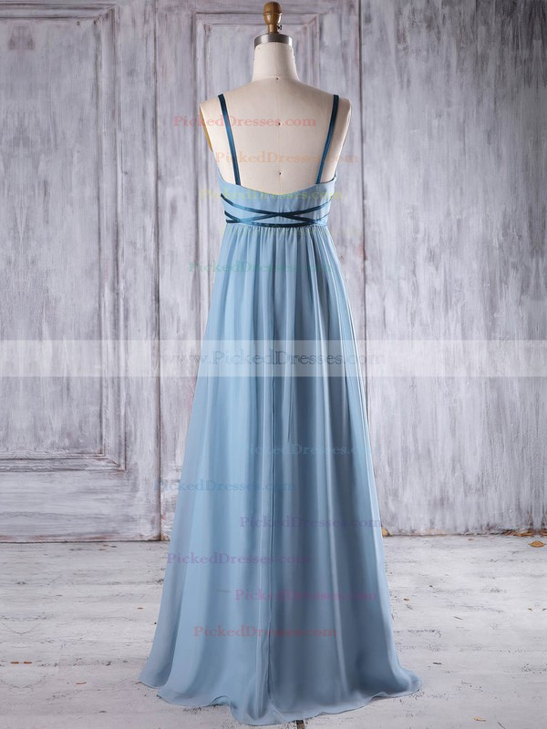Empire V-neck Floor-length Chiffon with Sashes / Ribbons Bridesmaid Dresses #PDS01013262