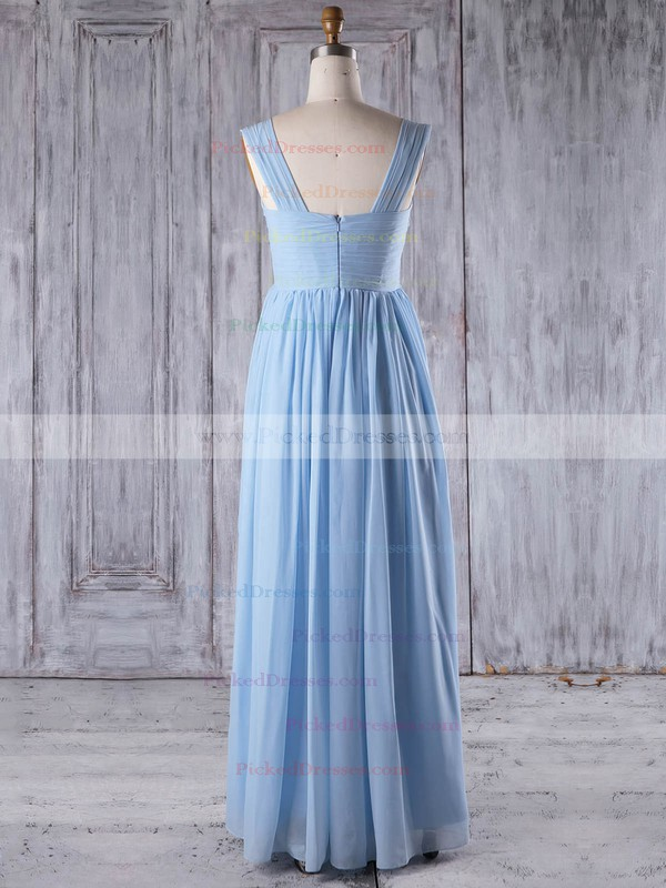 A-line One Shoulder Floor-length Chiffon with Ruffles Bridesmaid Dresses #PDS01013266