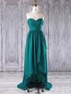 A-line Sweetheart Asymmetrical Chiffon with Ruffles Bridesmaid Dresses #PDS01013272