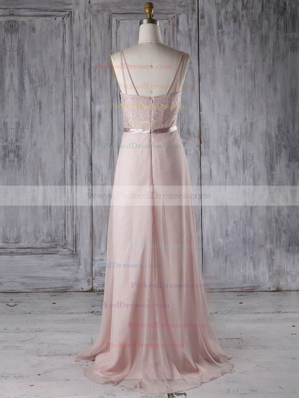 A-line Sweetheart Sweep Train Chiffon with Sashes / Ribbons Bridesmaid Dresses #PDS01013285
