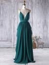 A-line V-neck Floor-length Chiffon with Sashes / Ribbons Bridesmaid Dresses #PDS01013341