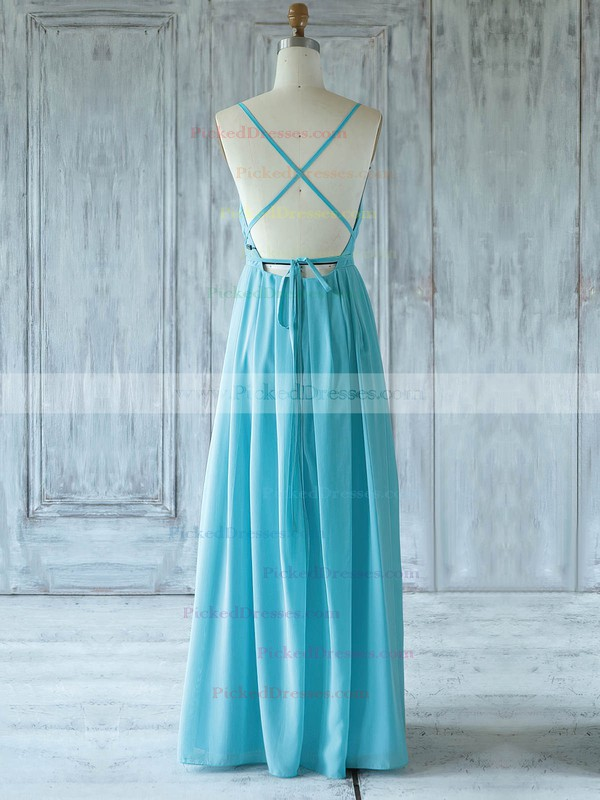 A-line One Shoulder Floor-length Chiffon with Ruffles Bridesmaid Dresses #PDS01013359