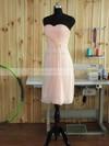 Sheath/Column Sweetheart Short/Mini Chiffon with Sashes / Ribbons Bridesmaid Dresses #PDS01013379