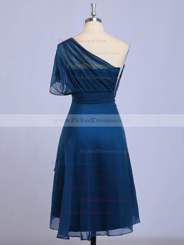 A-line One Shoulder Asymmetrical Chiffon with Beading Bridesmaid Dresses #PDS01013416