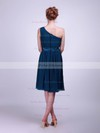 Chiffon A-line One Shoulder Knee-length Flower(s) Bridesmaid Dresses #PDS02013613
