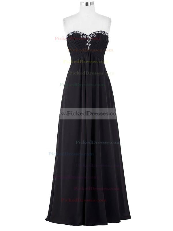 Empire Sweetheart Floor-length Chiffon with Beading Bridesmaid Dresses #PDS01013421