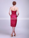 Satin Sheath/Column Strapless Knee-length Ruched Bridesmaid Dresses #PDS01012017