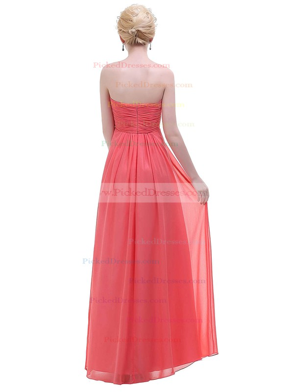 Empire Sweetheart Floor-length Chiffon with Ruffles Bridesmaid Dresses #PDS01013447