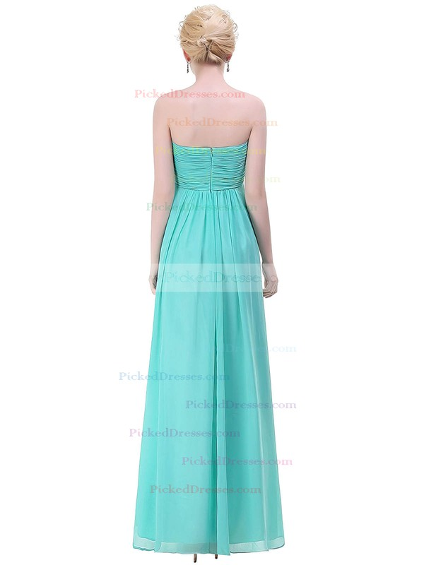 Empire Sweetheart Floor-length Chiffon with Ruffles Bridesmaid Dresses #PDS01013448