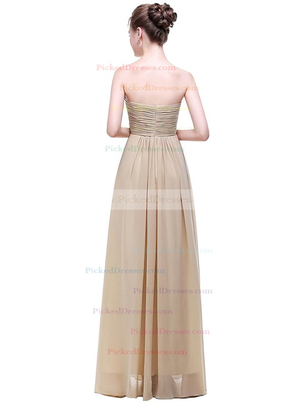 Empire Sweetheart Floor-length Chiffon with Ruffles Bridesmaid Dresses #PDS01013452