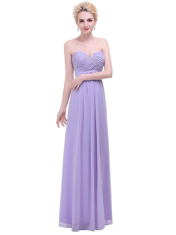 Empire Sweetheart Floor-length Chiffon with Ruffles Bridesmaid Dresses #PDS01013454