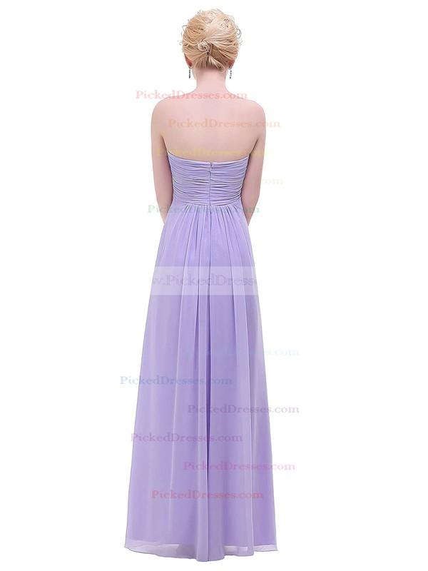Empire Sweetheart Floor-length Chiffon with Ruffles Bridesmaid Dresses #PDS01013454