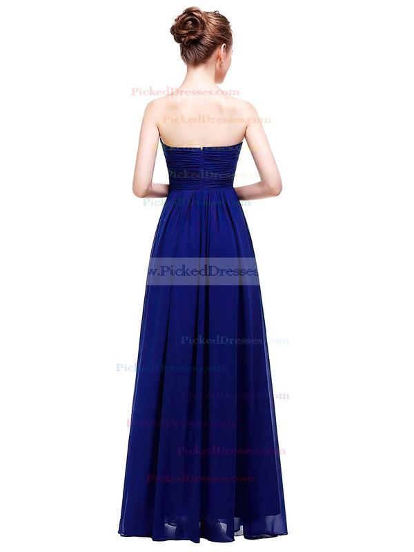 Empire Sweetheart Floor-length Chiffon with Ruffles Bridesmaid Dresses #PDS01013457