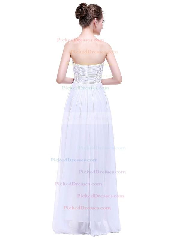 Empire Sweetheart Floor-length Chiffon with Ruffles Bridesmaid Dresses #PDS01013458