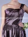 Taffeta A-line One Shoulder Short/Mini Pleats Bridesmaid Dresses #PDS02013605