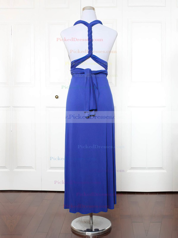 A-line V-neck Ankle-length Jersey with Ruffles Bridesmaid Dresses #PDS01013137
