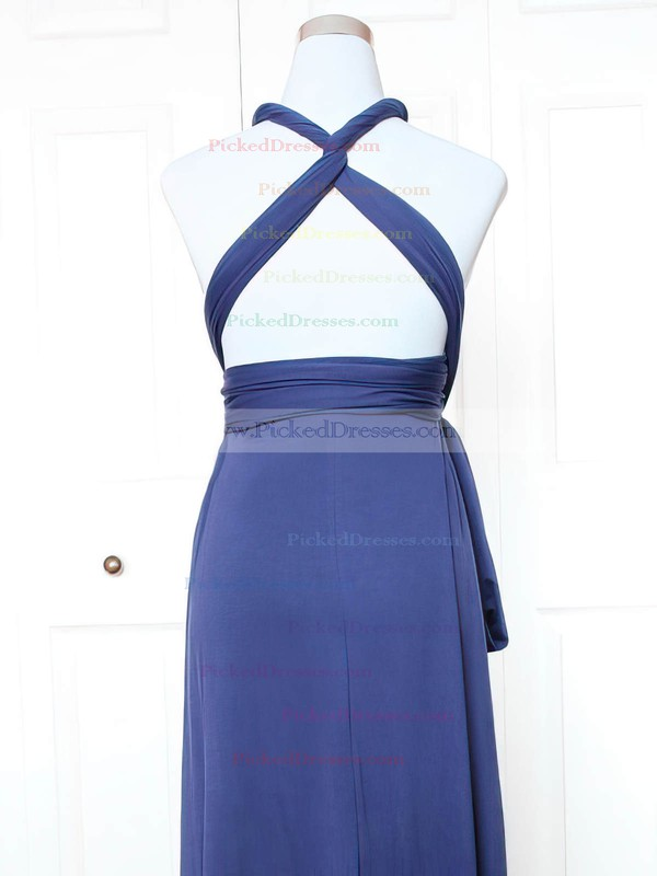 A-line V-neck Short/Mini Jersey with Ruffles Bridesmaid Dresses #PDS01013143
