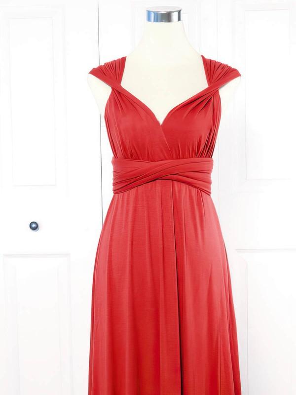 Empire V-neck Short/Mini Jersey with Ruffles Bridesmaid Dresses #PDS01013161