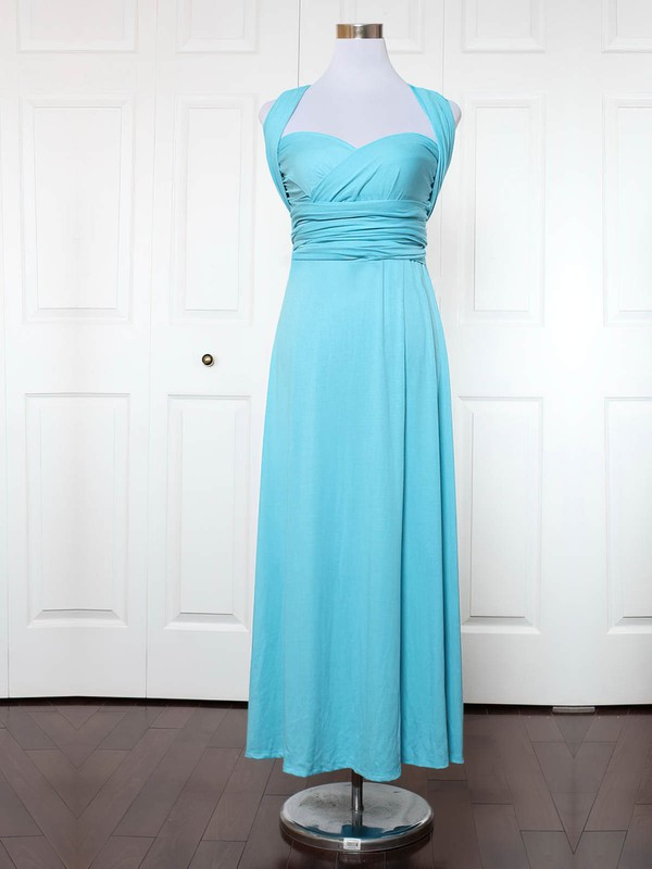 Empire Sweetheart Ankle-length Jersey with Ruffles Bridesmaid Dresses #PDS01013172
