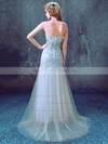 Trumpet/Mermaid Sweetheart Sweep Train Tulle with Appliques Lace Wedding Dresses #PDS00023012