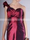 Taffeta Sheath/Column Strapless Short/Mini Pleats Bridesmaid Dresses #PDS02013620