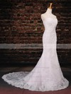 Trumpet/Mermaid Sweetheart Sweep Train Tulle with Appliques Lace Wedding Dresses #PDS00023043
