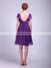 Chiffon A-line V-neck Knee-length Sashes/Ribbons Bridesmaid Dresses #PDS02013627