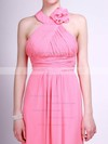 Chiffon Empire Halter Floor-length Flower(s) Bridesmaid Dresses #PDS02013629